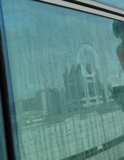 pulitura vetri MIlano sede Hyundai